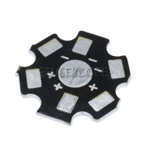 20MM 1W 3W 5W high Power LED Universal Aluminum Plate Heat Sink Black 10Stks