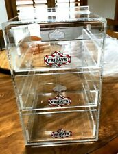 T G I Fridays Acrylic Counter Cocktails Display 3 Drawer 13x 8x10 New 1995