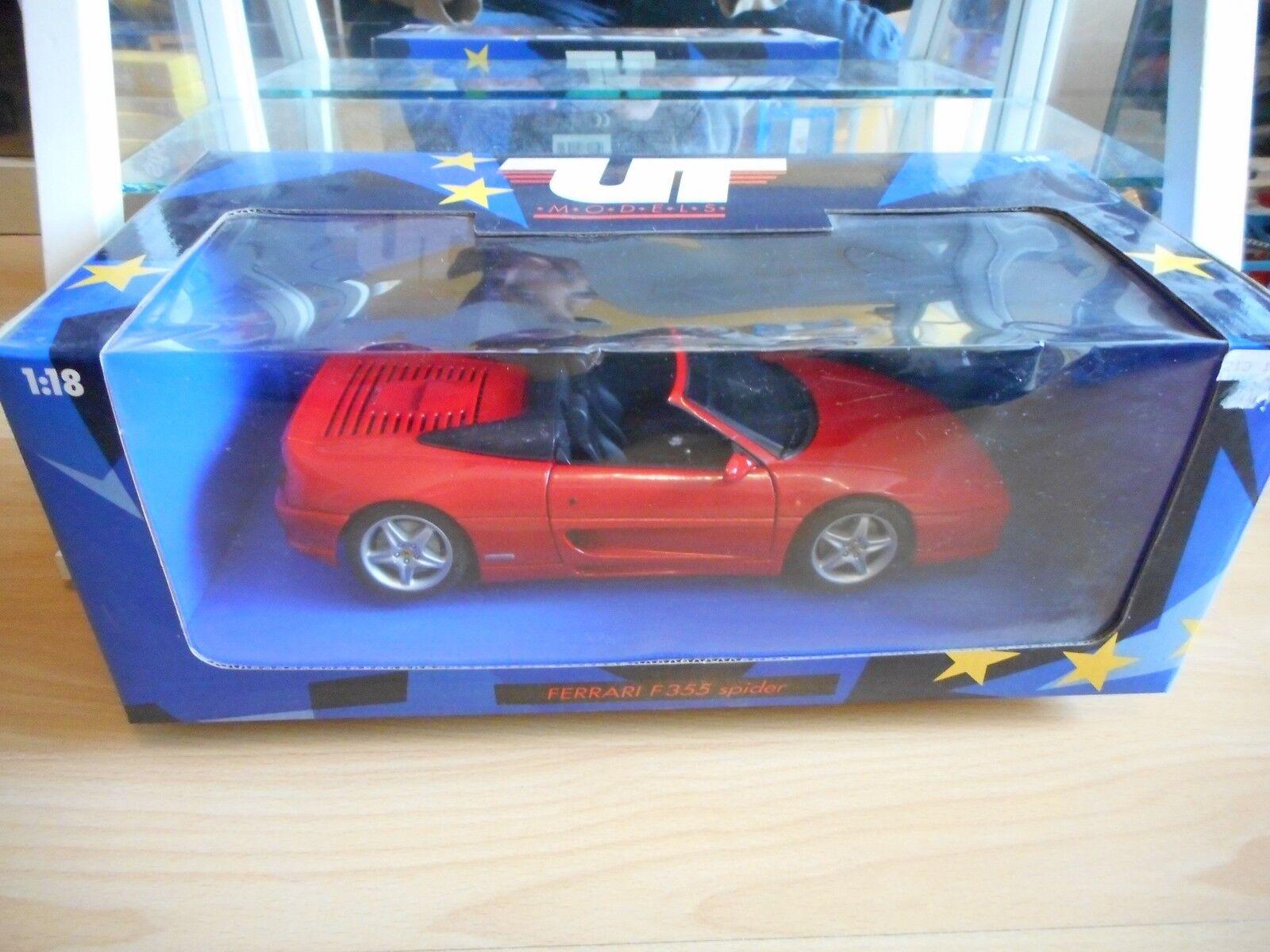 UT Models Ferrari F355 Spider in rot on 1 18 in Box