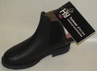 Hy Wax Look Leather Childs Jodhpur Boot Black And Brown