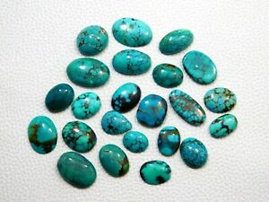 3x3mm To 10x10mm Square Cabochon Natural Tibetan Turquoise Loose Gemstone-AAA