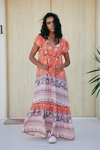 Jaase Womens Valerie Maxi Dress Tropic Tonic Boho Bohemian