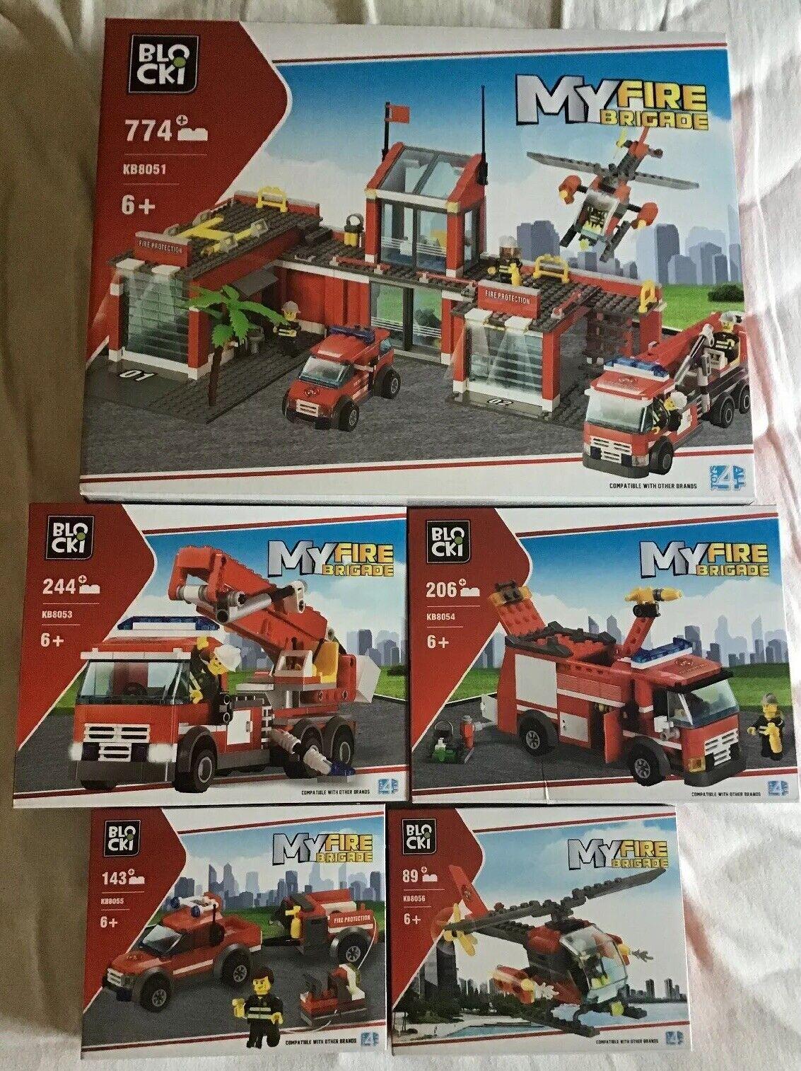 Pompiers, la casa y les V, hicules blocki compatibles con avec lego.