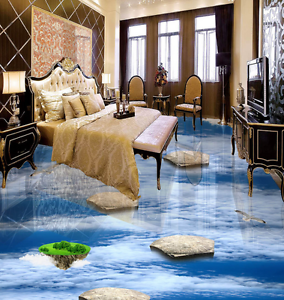 3D Sky Bird Island 856  Floor Wall Paper Murals Wall Print AJ WALLPAPER UK Lemon