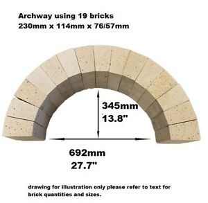 PIZZA-OVEN-ARCH-19-X-ARCHED-BRICKS-230-X-114-X-76-57mm-BREAD-OVEN-FIREPIT