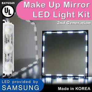 Hollywood Lighted Makeup Mirror LED light kit with Dimmer, LED Vanity light 12ft eBay