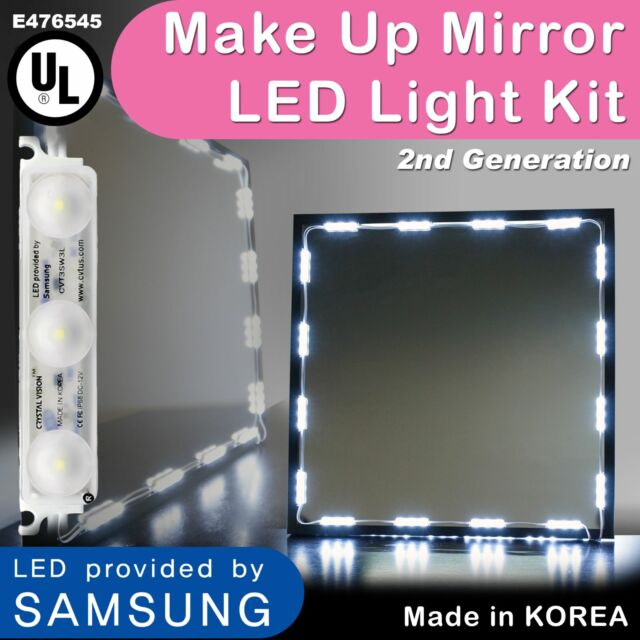 Hollywood Lighted Makeup Mirror Led Light Kit With Dimmer