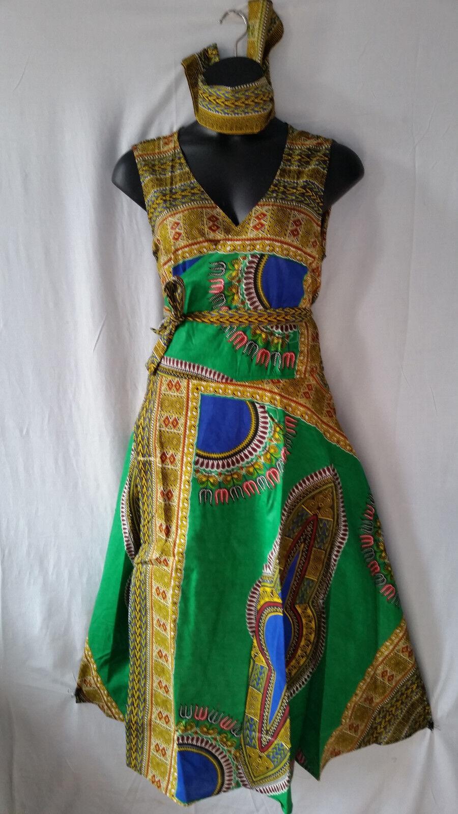Woherren Clothing African Long Dashiki Print Wrap around Maxi Derss Free Größe