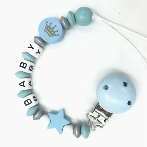 Baby Pacifier Chain dummy Holder Clip Baby Feeding Teether Pacifiers Clip Blue