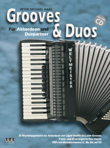 Grooves-amp-Duos-mit-CD-fuer-1-2-Akkordeons