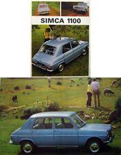 Simca 1100 1967/68 Original UK Sales Brochure