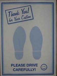 Car Valeting Printed Paper Floor Mats 2 Feet Ebay
