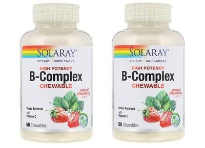 Solaray - High Potency B-Complex Chewable, 50 Chewables - 2 Packs  76280042658 | eBay