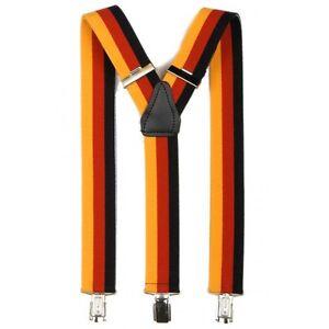 Hosenträger 3er Clips Y-Form in Deutschland Farben 3 cm Breit