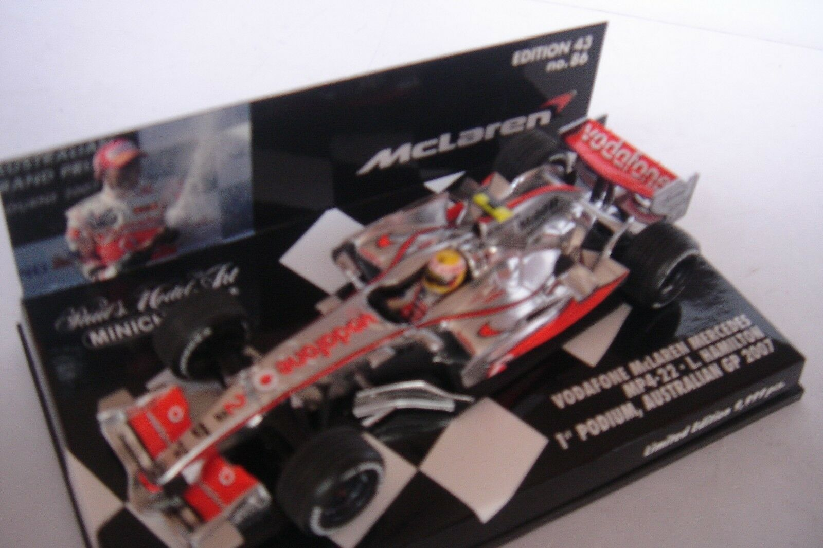 Minichamps 1 43 McLaren Mercedes MP4-22 1st Podium 2007 Lewis Hamilton 074312