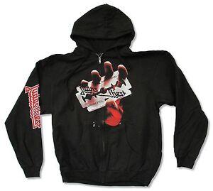 Judas-Priest-British-Steel-Black-Zip-Hoodie-Sweatshirt-New-Official