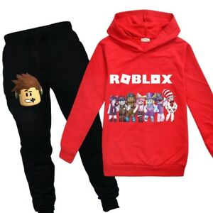 New Roblox Children S Fashion Casual Hoodie Pants Kids Set Ebay