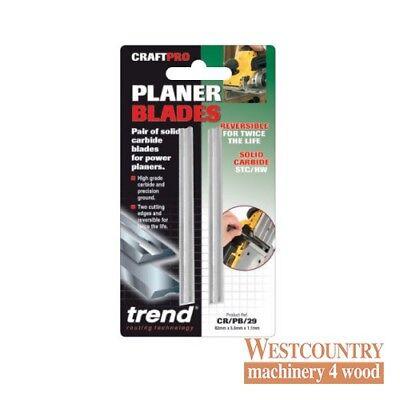 TREND CR//PB29 Portable Planer blade set 82.0 mm x 5.5 mm x 1.1 mm TC