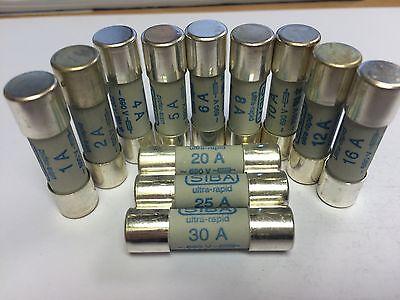 SIBA 50 179 06 12A Fuse 690V UltraRapid JPSF345 5017906.12  50-179-06 10x38mm gR