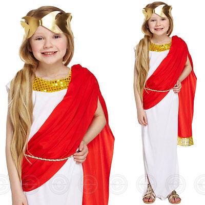 GIRLS GRECIAN GODDESS FANCY DRESS ROMAN COSTUME ATHENA GREEK CHILDS BOOK DAY QWE