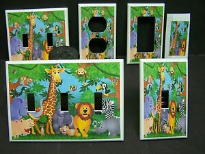 Image Is Loading Baby Zoo Jungle Safari Animals 1 Light