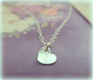 Silver heart necklace solid sterling tiny small heart pendant image is loading silver heart necklace solid sterling tiny small heart mozeypictures Images