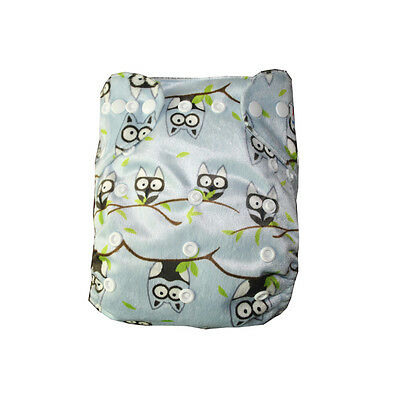 Alva Baby Bamboo Cloth Diaper Reusable +1 4layers Bamboo Inserts One Size