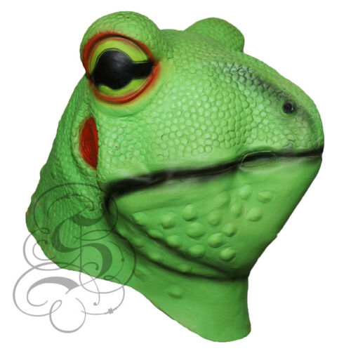 Latex Overhead Realistic Animal Aquatic Frog Fancy Props Carnival Party Mask