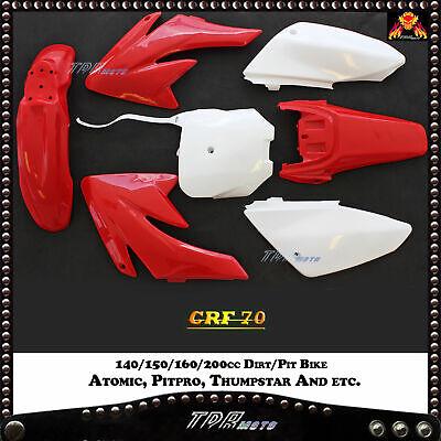GEICO GRAphics PIT BIKE 140//150//160//200 CC ATOMIK PITPTO CRF70 BLACK PLASTICS