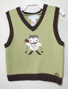 40cdb95cfba1 NWT Janie and Jack Snowy Owl Sweater Vest Boy s Size 6-12M