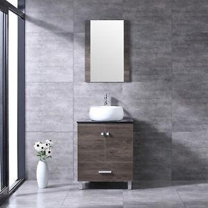 Image Is Loading 24 034 Bathroom Vanity Wood Cabinet Round White