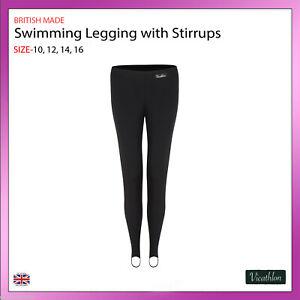 Ladies-Womens-Modest-Swimming-Stirrup-Leggings-Swimwear-Stretch-Bottoms-UK-10-16