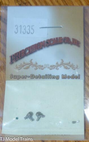 Precision Scale HO #31335 Marker Lamps w//Jewels Gn//Clear Brass PRR Pilot Mount