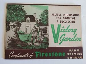 Vintage-Firestone-Victory-Garden-Guide-Advertisement-Booklet-1943-WW2-Era