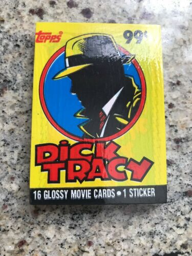 DICK TRACY Movie Cards 16 glossy TOPPS card Sealed trading cards NEW SEALED