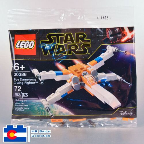 Lego 30386 Poe Dameron/'s X-wing Fighter Polybag NIP Star Wars Last Jedi Rare