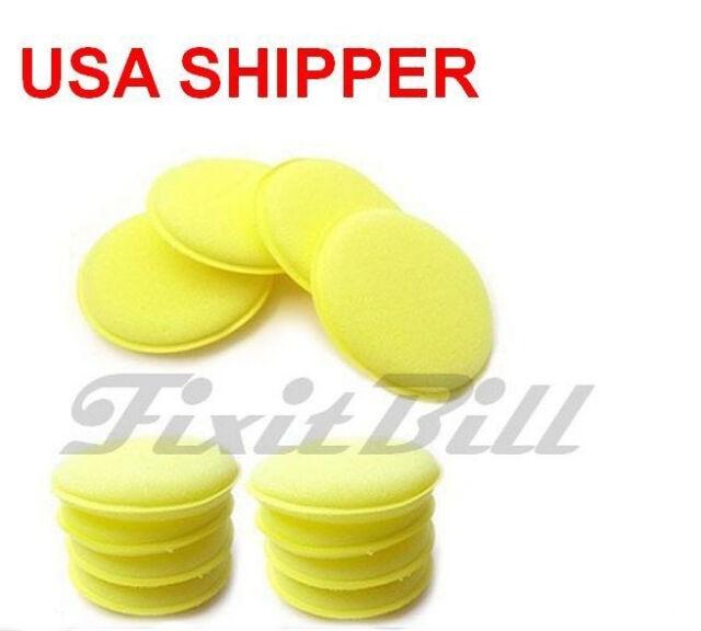 12 - Waxing Polish Foam Sponge Car Wax Pad Applicator Cleaning & Detailing Pads