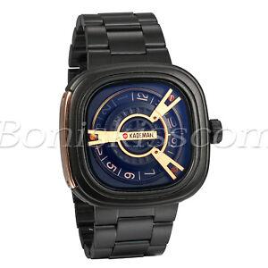 Men-039-s-Fashion-Cool-Stainless-Steel-Square-Dial-Quartz-Analog-Wrist-Watch-Unique