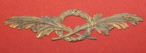 Antique-Art-Deco-Brass-Decoration-Ornament-Fragment