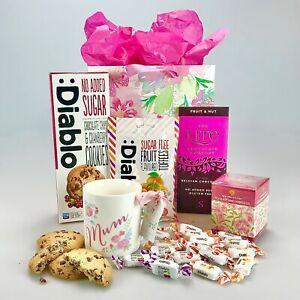 Ultimate Diabetic Wicker Hamper Chocolate Jam Cookies Birthday Christmas Home