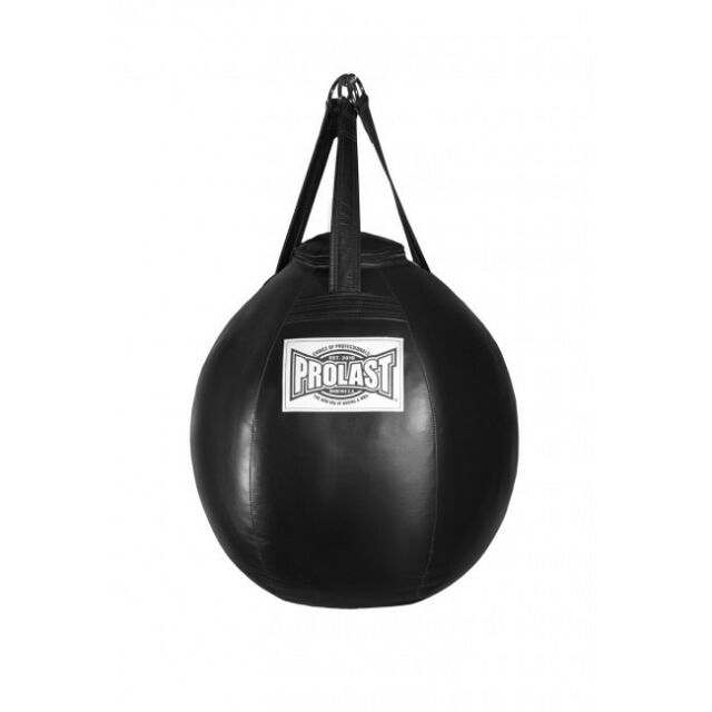 "Black BRAZILIAN Wrecking Ball Heavy Bag Wrestling Punch Bag 35"" x 35"""