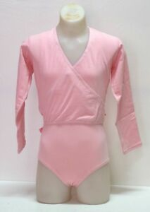 DWC-Leotard-and-Cross-Over-Top-Ballet-Pink-Cotton-Lycra-Size-XS-Sm-Med-New