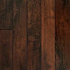 Handscraped Maple Cappuccino Engineered Hardwood Flooring CLICK LOCK Wood Floor