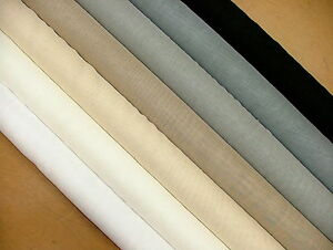 leinen aussehen kabel gewichtet voile netz muslin vorhang stoff extra breit ebay. Black Bedroom Furniture Sets. Home Design Ideas