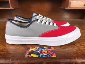d5aeb9c72fb072 Converse Jack Purcell Signature Ox Low Top Red Grey White Mens Shoes ...