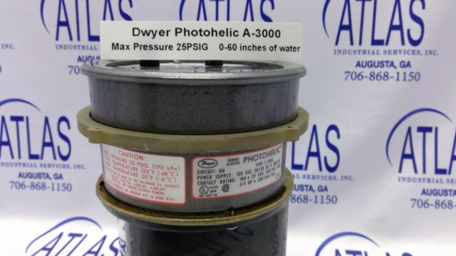 Dwyer Photohelic A3000 Series Pressure Switch Gauge 14a4 for sale online