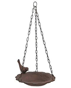 Hanging-Birdbath-Feeder-Cast-Iron-Patio-Garden-Yard