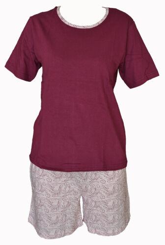 Toller Damen Shorty Schlafanzug Pyjama 3 Farbkombinationen Größen S-XL 36-50