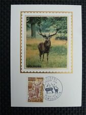 FRANCE MK 1972 DEER ANIMALS HIRSCH TIERE WILD MAXIMUMKARTE MAXIMUM CARD MC c953