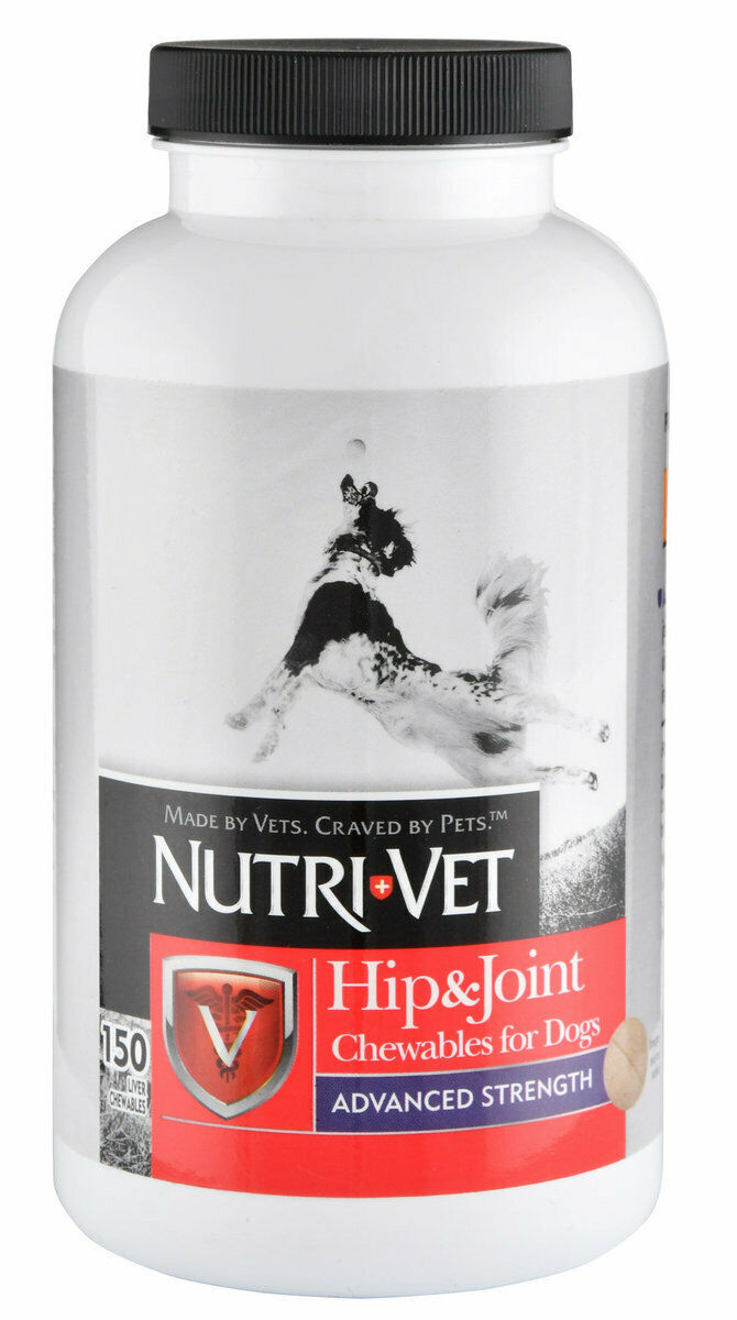 Hip Joint Advanced Strength Chewables for Dogs maximizes healthy joints 150ct